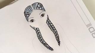 Frisuren Zeichnen Zopf Mittellange Haare