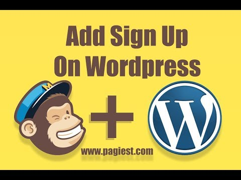 How to Embed Mailchimp Sign Up Form On Wordpress