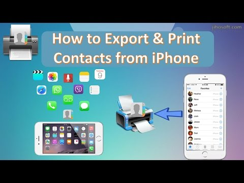 How to Export & Print Contacts from iPhone