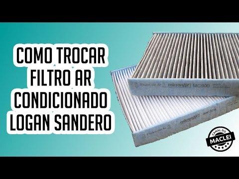 COMO TROCAR FILTRO AR CONDICIONADO RENAULT LOGAN SANDERO