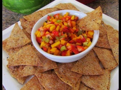 How to make Fruit Salsa & Cinnamon Tortilla Chips dessert idea!