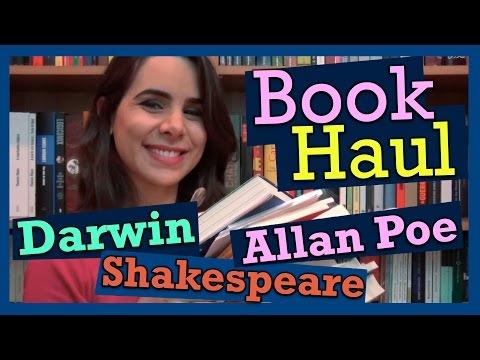 DARWIN, ALLAN POE, SHAKESPEARE... BOOK HAUL DE MARÇO!
