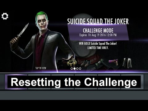 **PATCHED Injustice Mobile Android (glitch): How to Reset the Suicide Squad Joker challenge