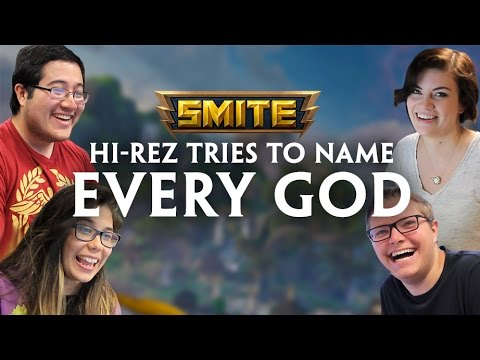 SMITE Quiz - Hi-Rez Employees Try to Name Every God