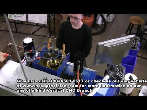 Broaching Pistol Barrels-Vertical CNC Broach