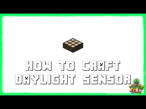 Minecraft 1.12.2: How to Make DAYLIGHT SENSORS! Recipe Tutorial for Minecraft 1.12.2 | 2018
