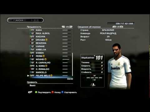 My Real Madrid team- master league (PES 2013)