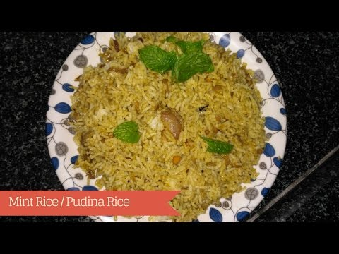 Pudina Rice Recipe - Mint Rice South Indian Style