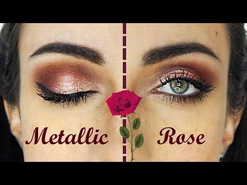 Foiled Metallic Rose Makeup Tutorial | MakeupAndArtFreak