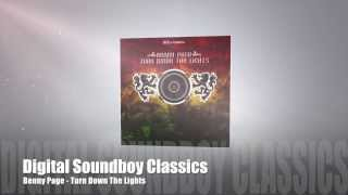 Benny Page - Turn Down The Lights