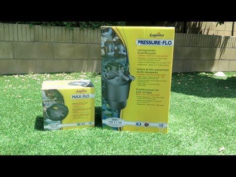 Koi Pond Filter: Laguna Pressure Flo Filter 1400 / 2100 with UV Clarifier