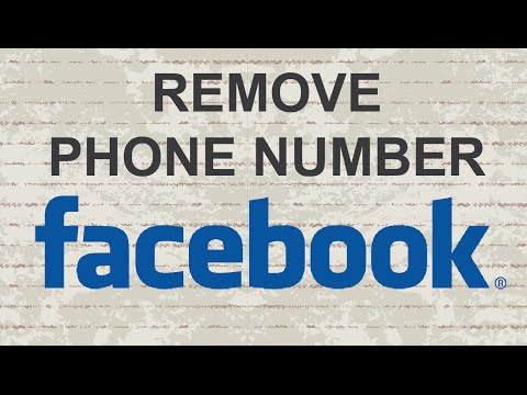 Remove phone number from Facebook