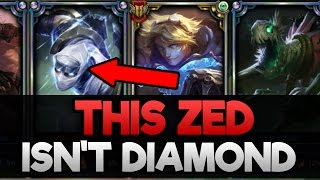 Do They Deserve it? Placing a Bronze Zed in a Diamond Solo Q Game (GETS IN GAME WITH RANK 30)