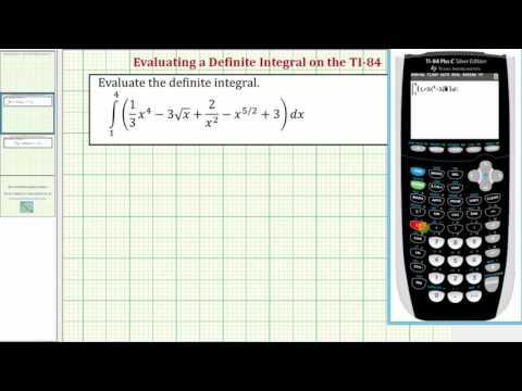 Ex: Evaluate a Definite Integral on the TI-84