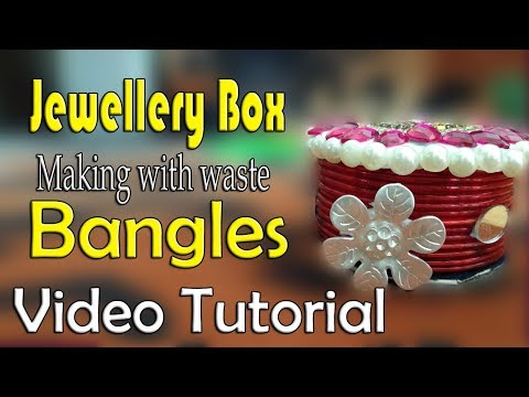 Jewellery Box with bangles || kruthi DIY craft ideas