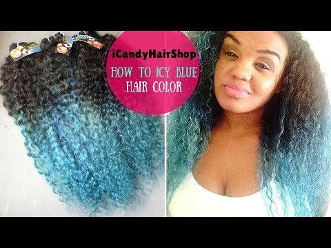 How to dye hair light blue