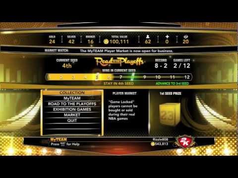NBA 2k13: MYTeam: Rizzle's Gold Legend Pulling Method!