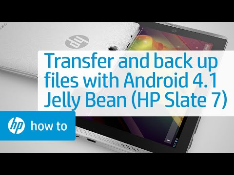 Transferring and Backing Up Files with Android 4.1 Jelly Bean (HP Slate 7 Tablet)