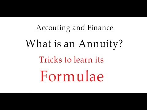 ANNUITIES Accounting and Finance Part -1 [HINDI]