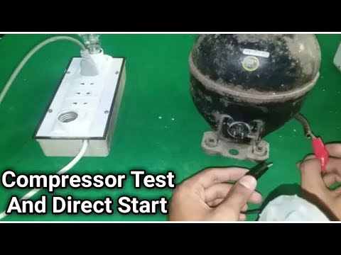 Compressor test with series circuit, and direct start compressor in Urdu/Hindi