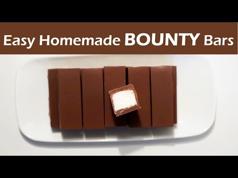 How to make Bounty Chocolate Bars