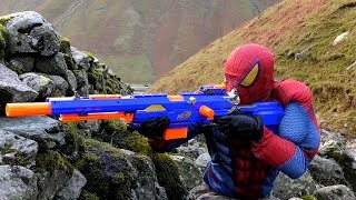 SNIPER SPIDERMAN (BB, Air, Pellet, Nerf Gun) NERF N-Strike Longstrike CS-6 Sniper Rifle Adventure