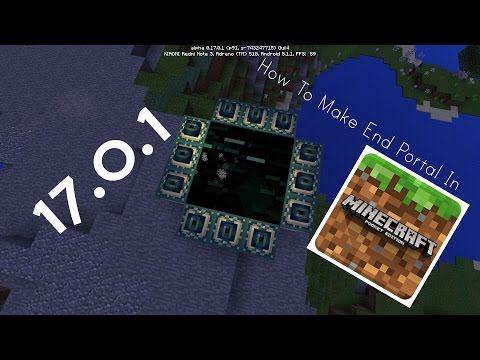 How To Make A End Portal In Minecraft Pocket Edition 1.0  | Ender Dragon