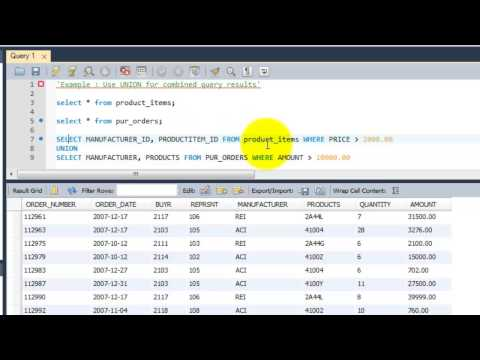 SQL Complete Tutorial - Use UNION for combined query results - Chapter 25