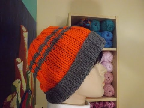 How to knit a easy men's hat with circular needles - with Ruby Stedman