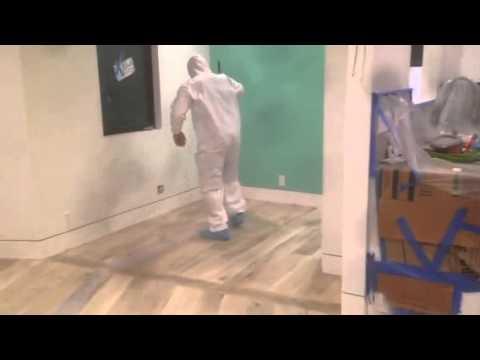 Bleach finish. Hardwood floor