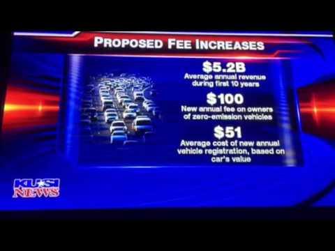 CA proposed gas & car tax increase.