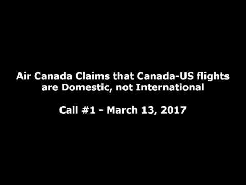 Air Canada agent: Cananda-US flights are