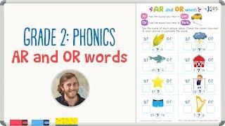 Grade 2: Phonics - AR and OR words | Kids Academy