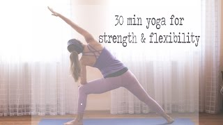 30 Min Yoga for Strength & Flexibility
