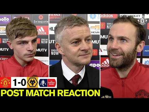 Solskjaer, Mata & Williams react to Wolves win   Manchester United 1-0 Wolverhampton Wanderers