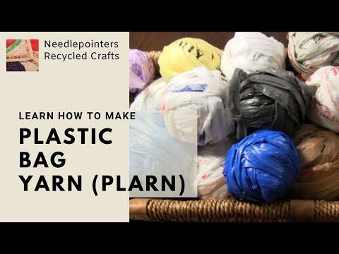 Plastic Bag Yarn  - How to Make Plarn