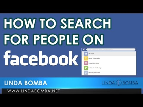 How To Search For People On Facebook