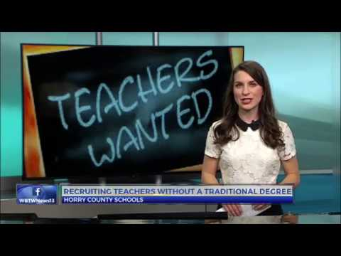 Horry County Schools recruiting people without traditional teaching degrees