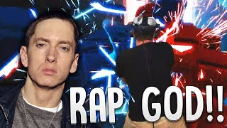 RAPPING RAP GOD WHILE PLAYING RAP GOD (FAST PART) - Beat Saber