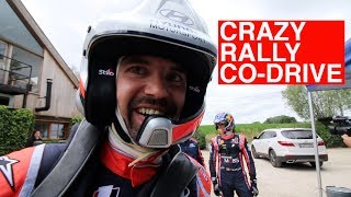 CRAZY RALLY CO-DRIVE 😱 MET THIERRY NEUVILLE 🚗