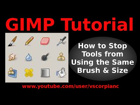 GIMP Tutorial - How to Stop Paintbrush & Eraser From Using Same Brushes by VscorpianC