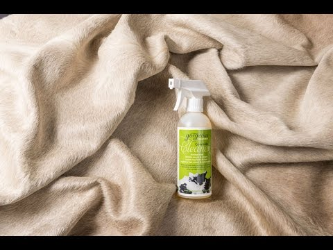 Cowhide cleaning & general maintenance using a special Cowhide Cleaning product