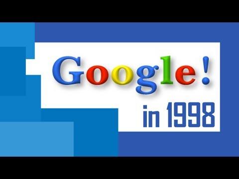 Old Google website as in 1998 (Easter Egg)