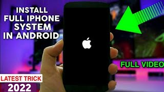Original iPhone || iOS || System install In Any Android 2017 Full HD