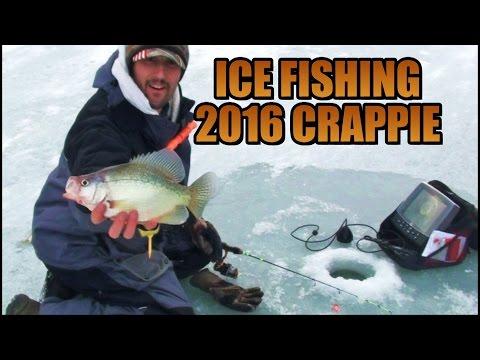 ICE FISHING 2016 PA HARDWATER CRAPPIE FISHING