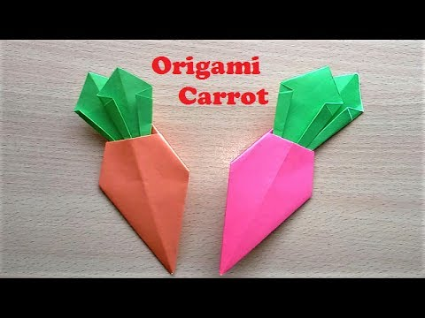 Making Origami Carrot Tutorial - How to Make Origami Paper Carrot