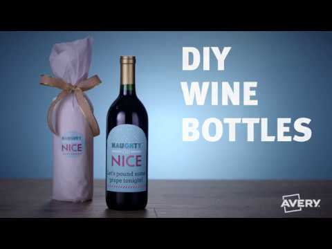 How to Make DIY Wine Bottles with Avery®