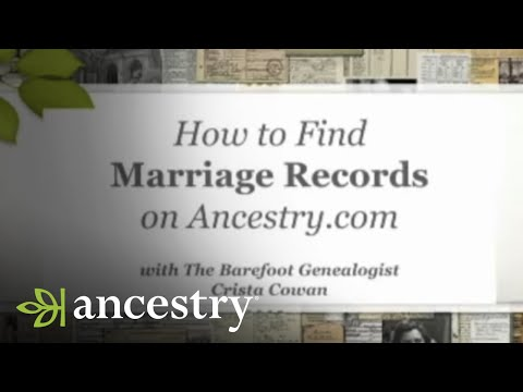 How to Find Marriage Records on Ancestry.com