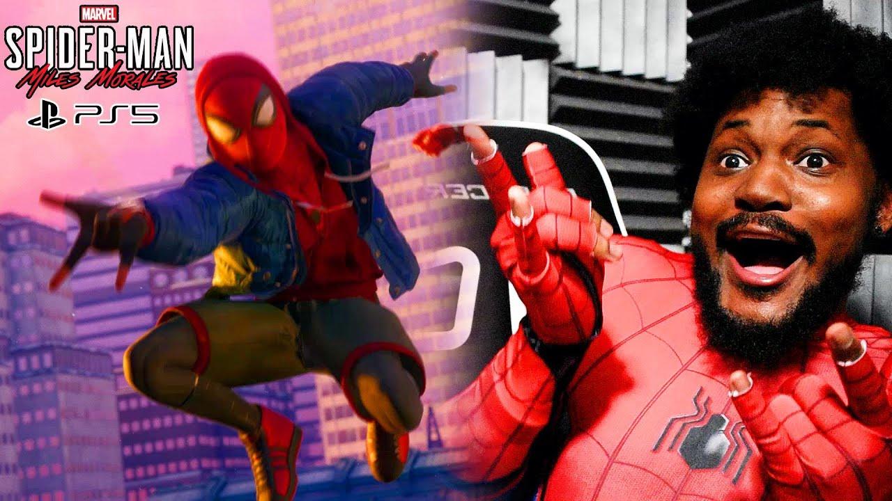 BLACK MAN PLAYS BLACK SPIDER MAN | Spider Man Miles Morales Part 1 (PS5 60FPS)