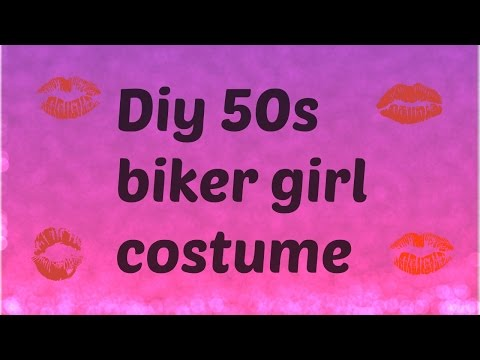 DIY  biker girl costume
